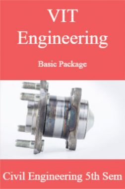 VIT Engineering Basic Package Civil Engineering 5th Sem