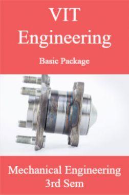 VIT Engineering Basic Package Mechanical Engineering 3rd Sem