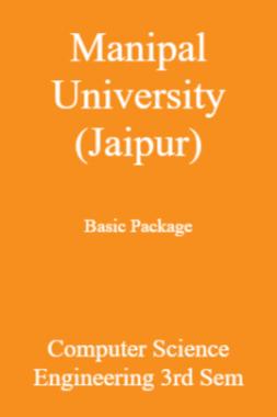 Manipal University (Jaipur) Basic Package Computer Science Engineering 3rd Sem