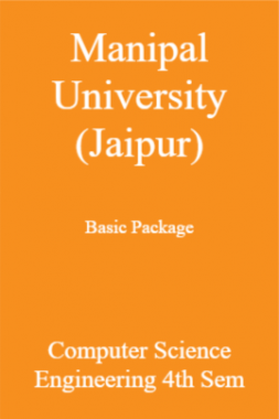 Manipal University (Jaipur) Basic Package Computer Science Engineering 4th Sem