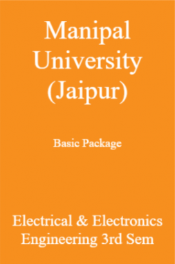 Manipal University (Jaipur) Basic Package Electrical & Electronics Engineering 3rd Sem