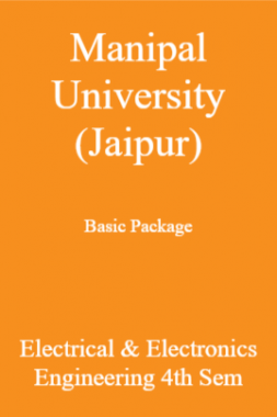 Manipal University (Jaipur) Basic Package Electrical & Electronics Engineering 4th Sem