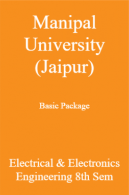 Manipal University (Jaipur) Basic Package Electrical & Electronics Engineering 8th Sem