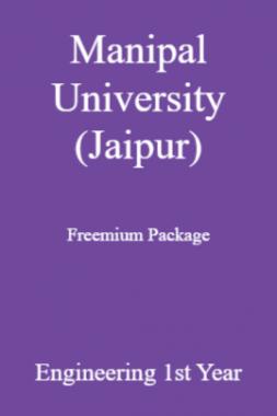 Manipal University (Jaipur) Freemium Package Engineering 1st Year