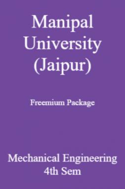 Manipal University (Jaipur) Freemium Package Mechanical Engineering 4th Sem