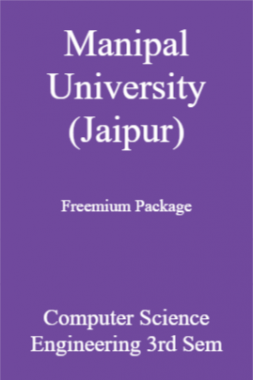 Manipal University (Jaipur) Freemium Package Computer Science Engineering 3rd Sem