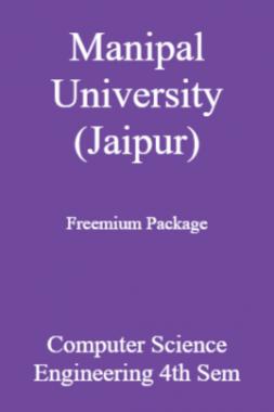 Manipal University (Jaipur) Freemium Package Computer Science Engineering 4th Sem