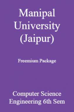 Manipal University (Jaipur) Freemium Package Computer Science Engineering 6th Sem