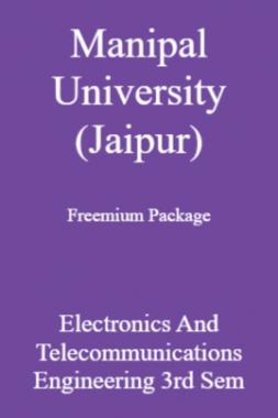 Manipal University (Jaipur) Freemium Package Electronics And Telecommunications Engineering 3rd Sem