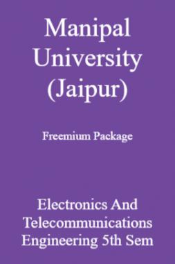Manipal University (Jaipur) Freemium Package Electronics And Telecommunications Engineering 5th Sem