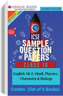 Oswaal ICSE Sample Question Papers Class 10 PCB Combo (Set of 6 Books)