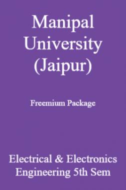 Manipal University (Jaipur) Freemium Package Electrical & Electronics Engineering 5th Sem