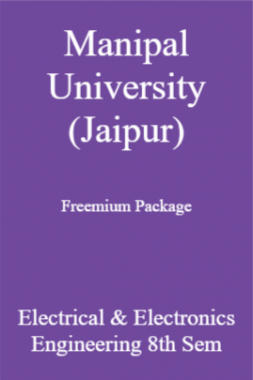 Manipal University (Jaipur) Freemium Package Electrical & Electronics Engineering 8th Sem