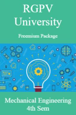 RGPV Freemium Package Mechanical Engineering IV SEM