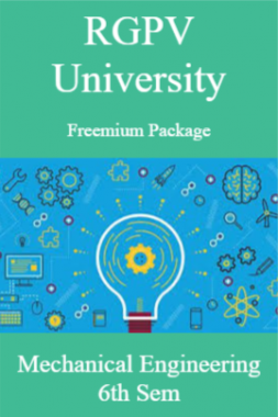 RGPV Freemium Package Mechanical Engineering VI SEM