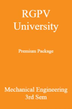 RGPV University Premium Package Mechanical Engineering 3rd Sem