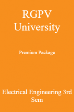 RGPV University Premium Package Electrical Engineering 3rd Sem