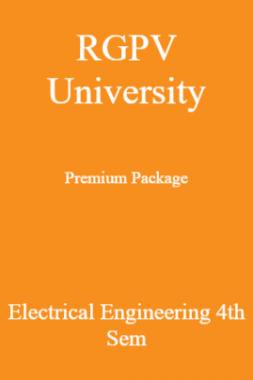 RGPV University Premium Package Electrical Engineering 4th Sem