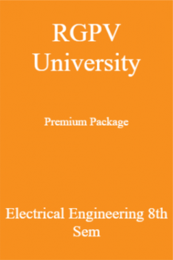 RGPV University Premium Package Electrical Engineering 8th Sem