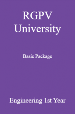 RGPV University Basic Package Engineering 1st Year