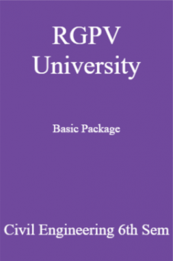 RGPV University Basic Package Civil Engineering 6th Sem