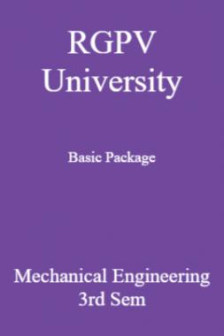 RGPV University Basic Package Mechanical Engineering 3rd Sem