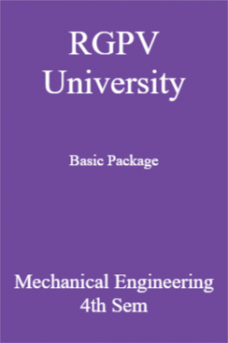 RGPV University Basic Package Mechanical Engineering 4th Sem