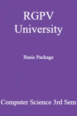 RGPV University Basic Package Computer Science 3rd Sem