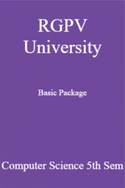 RGPV University Basic Package Computer Science 5th Sem