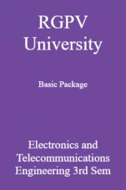RGPV University Basic Package Electronics And Telecommunications Engineering 3rd Sem