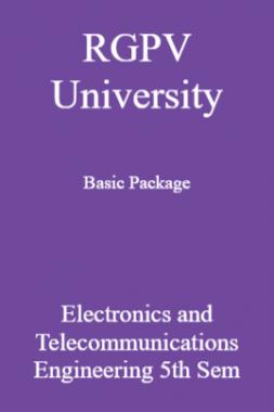 RGPV University Basic Package Electronics And Telecommunications Engineering 5th Sem