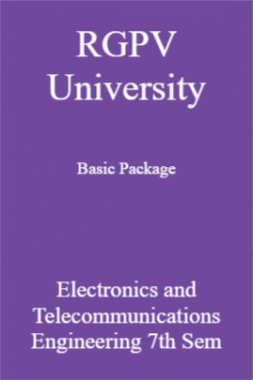 RGPV University Basic Package Electronics And Telecommunications Engineering 7th Sem