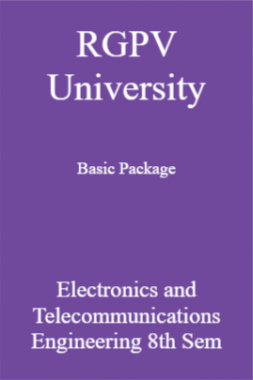 RGPV University Basic Package Electronics And Telecommunications Engineering 8th Sem