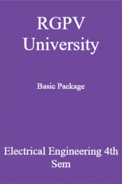RGPV University Basic Package Electrical Engineering 4th Sem