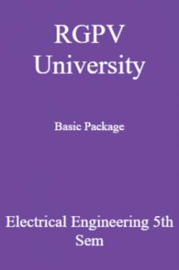 RGPV University Basic Package Electrical Engineering 5th Sem