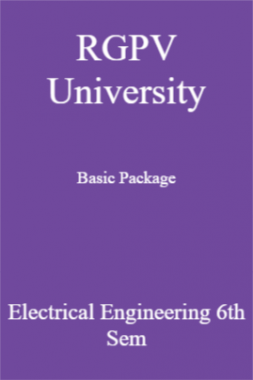 RGPV University Basic Package Electrical Engineering 6th Sem
