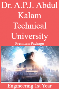 Dr. A.P.J. Abdul Kalam Technical University Premium Package Engineering 1st Year