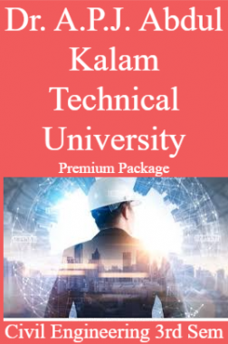 Dr. A.P.J. Abdul Kalam Technical University Premium Package Civil Engineering 3rd Sem