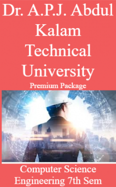 Dr. A.P.J. Abdul Kalam Technical University Premium Package Computer Science Engineering 7th Sem