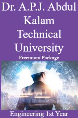 Dr. A.P.J. Abdul Kalam Technical University Freemium Package Engineering 1st Year