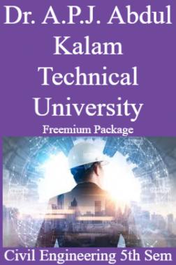Dr. A.P.J. Abdul Kalam Technical University Freemium Package Civil Engineering 5th Sem