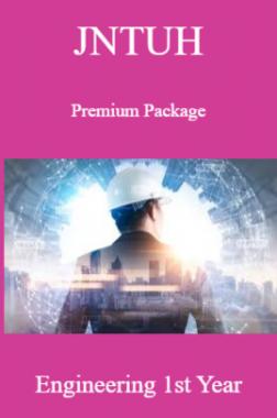 JNTUH Premium Package Engineering Ist Year