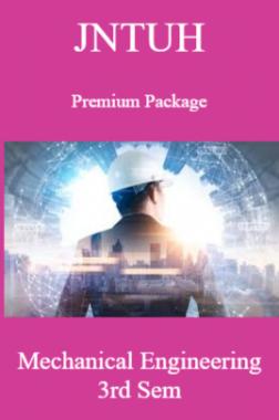 JNTUH Premium Package Mechanical Engineering III SEM
