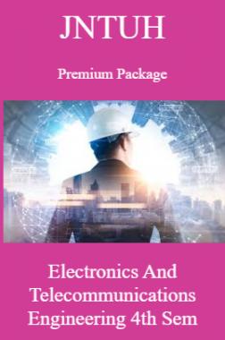 JNTUH Premium Package Electronics and Telecommunications Engineering IV SEM