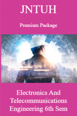 JNTUH Premium Package Electronics and Telecommunications Engineering VI SEM