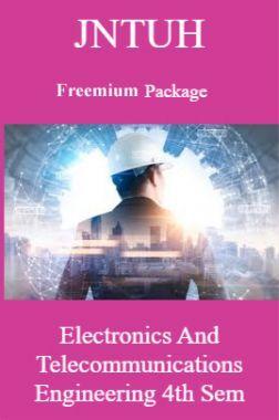JNTUH Freemium Package Electronics and Telecommunications Engineering IV SEM