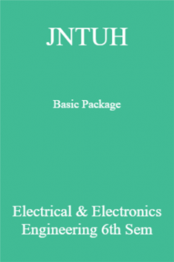 JNTUH Basic Package Electrical & Electronics Engineering 6th Sem