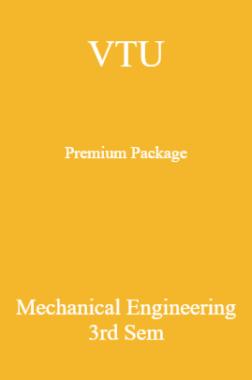 VTU Premium Package Mechanical Engineering III Sem