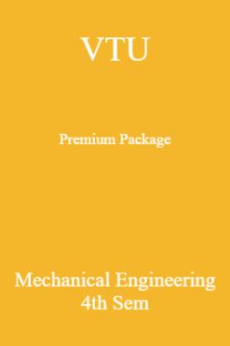VTU Premium Package Mechanical Engineering IV Sem