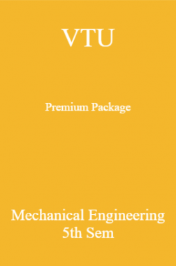 VTU Premium Package Mechanical Engineering V Sem